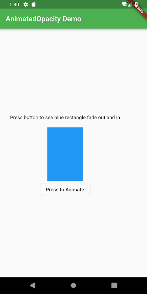 Alt Blue Rectangle animates when button is pressed