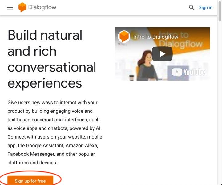 DialogFlow #1